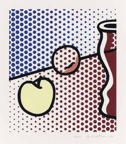 Roy Lichtenstein-Still Life with red Jar-1994