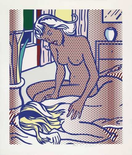 Roy Lichtenstein-Two Nudes, State I-1994