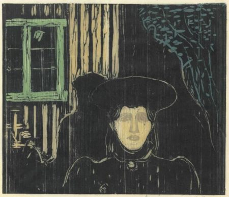 Edvard Munch-Maneskinn I / Moonlight I / Mondschein I (W. 90, Sch. 81)-1896