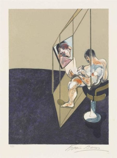 Francis Bacon-Left panel, from: Three Studies of a Male Back-1987