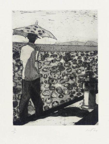 Peter Doig-Lapeyrouse Wall (Black)-2004