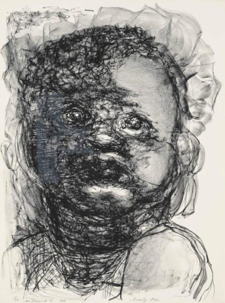 Marlene Dumas-(i) Sweetie Pie, From: Fears Of Babies; (ii) Chernobyl Child; (iii) Tripoli Baby-1986