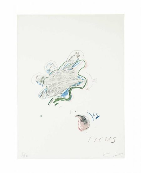Cy Twombly-Ficus Carica, from Natural History, Part II, Some Trees of Italy-1976