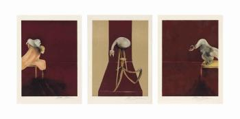 Francis Bacon-Second Version, Triptych-1988