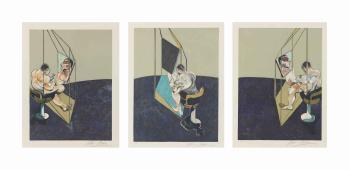 Francis Bacon-Trois etudes de dos d'Homme-1987