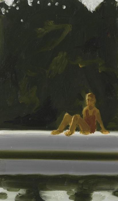 Alex Katz-Study for Tracy on Raft-1982
