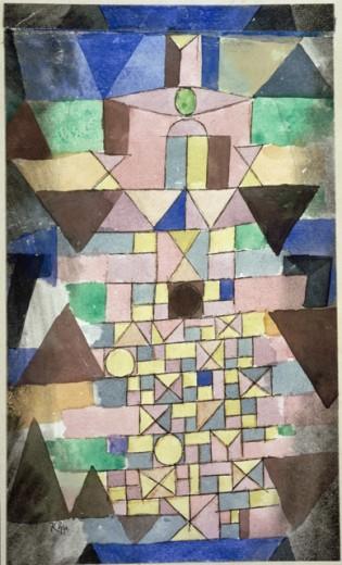 Paul Klee-Komposition Mit Dreiecken-1918