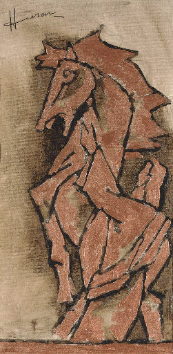 Maqbool Fida Husain-Untitled-Horse-
