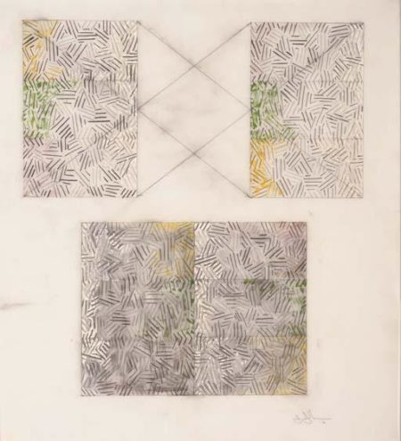 Jasper Johns-Untitled Study-1976