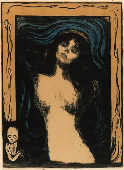Edvard Munch-Madonna / Liebendes Weib / Loving woman / Woman making love (W. 39; Sch. 33)-1902