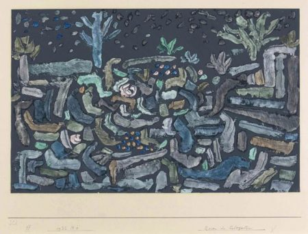 Paul Klee-Rosen im Felsgarten-1932