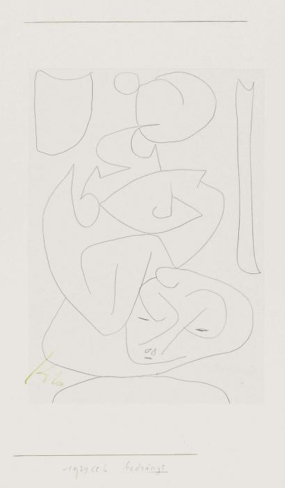 Paul Klee-Bedrangt-1939