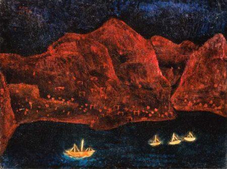 Paul Klee-Cote Meridional: Sudliche Kuste abends-1925