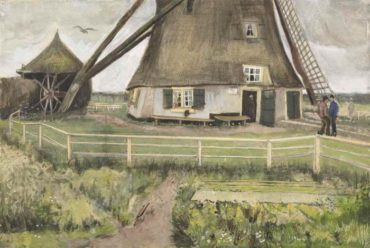 Vincent van Gogh-The 'Laakmolen' near The Hague (The Windmill)-1882
