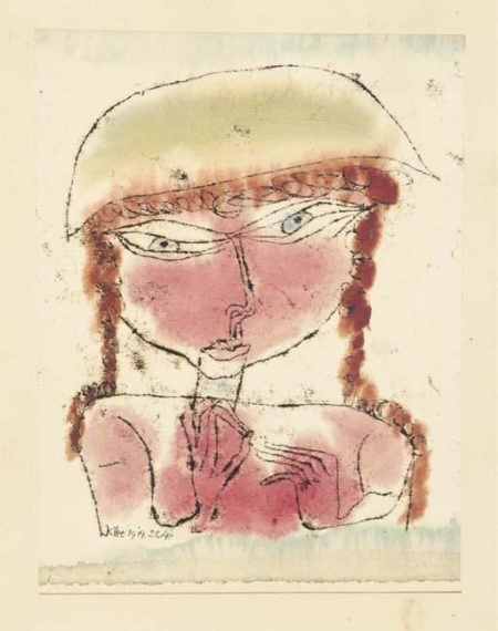 Paul Klee-Rotes Madchen Mit Gelbem Tophut-1919