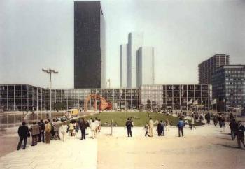 Andreas Gursky-La Defense, Dreharbeiten-1987