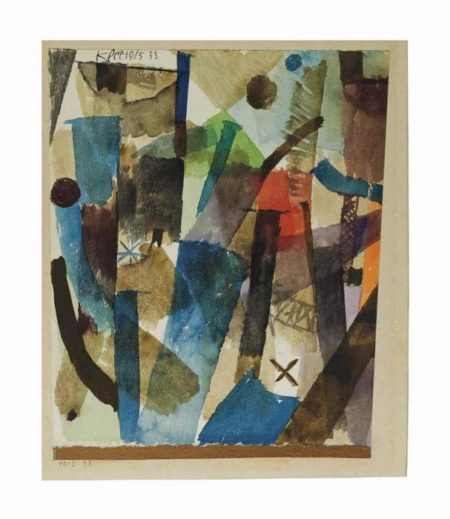 Paul Klee-Bewegung Der Kamine (Movement Of The Chimneys)-1915