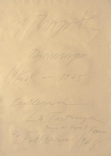 Cy Twombly-Cy Twombly Drawings 1954-1956 Galleria La Tartaruga Piazza de-1968