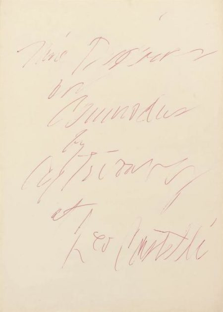 Cy Twombly-Nine Discourses on Commodus by Cy Twombly at Leo Castelli-