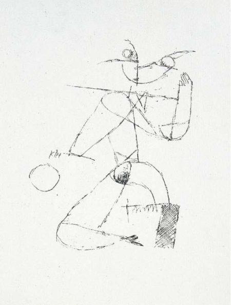 Paul Klee-Kauerndes Madchen mit Ball-1915