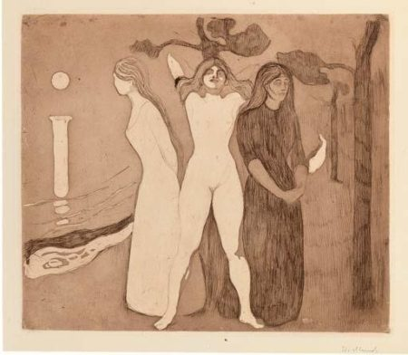 Edvard Munch-The Woman II / Kvinnen II / Das Weib (Schiefler 21b; Woll 22)-1895