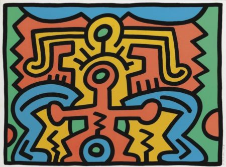 Keith Haring-KeithHaring - Growing 5 (L. p. 91)-1988