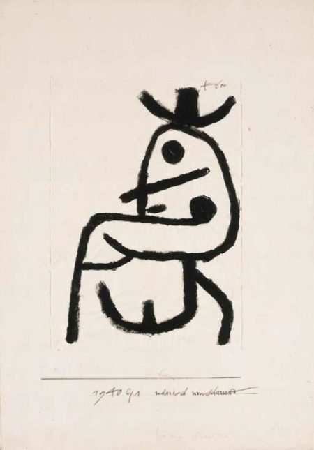 Paul Klee-Narrisch Umshauend-1940