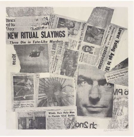 Robert Rauschenberg-Robert Rauschenberg - One Plate (From Features From Currents)-1970