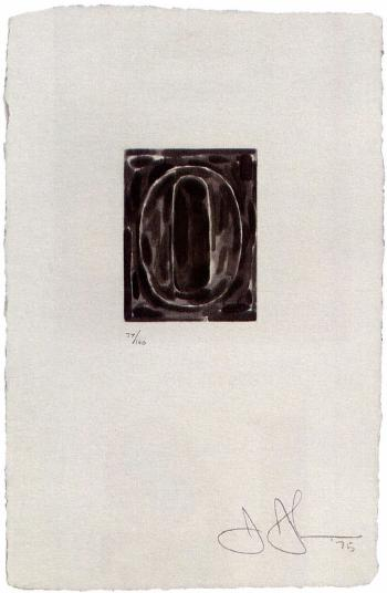 Jasper Johns-0-9 (A Set of 10 Numerals) (ULAE 156-65)-1975