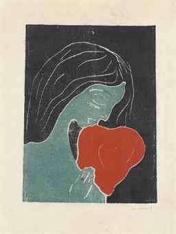 Edvard Munch-Das Herz / Hjertet / The Heart (Schiefler 134; Woll 135)-1899