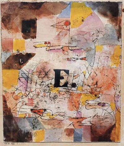 Paul Klee-Wasservogel-Enten-1919