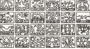 Keith Haring-Keith Haring - Retrospect (black and white)-1989