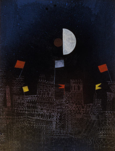 Paul Klee-Beflaggte Stadt (City With Flags)-1927