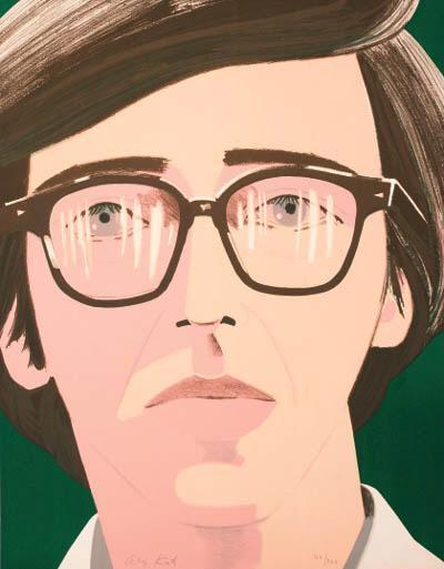 Alex Katz-Portrait of a Poet: Kenneth Koch (Maravell 33); Anne I (Seated Woman I)-1970