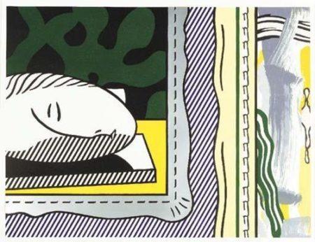 Roy Lichtenstein-Sleeping Muse-1984
