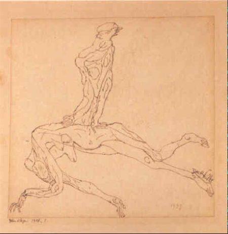 Paul Klee-Toten Klage-1908