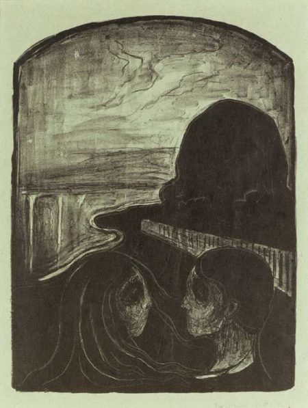Edvard Munch-Anziehung I / Attraction I / Tiltrekning I (Woll 75, Sch. 65)-1896