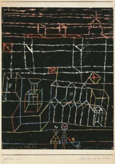 Paul Klee-Kinder Vor Der Stadt (Children On The Outskirts Of A Town)-1928