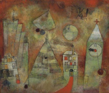 Paul Klee-Schicksalstunde Um Dreiviertel Zwolf-1922