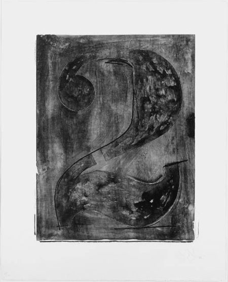 Jasper Johns-Figure 2, from Black Numeral Series (ULAE 46; Gemini 89)-1968