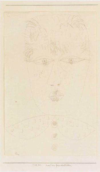 Paul Klee-Kopf Eines Friesischen Madchens (Head Of Young Woman)-1928