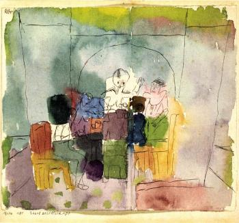 Paul Klee-Tischgesellschaft (Figures At Table)-1914