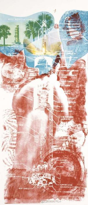 Robert Rauschenberg - Sky Garden (From Stoned Moon Series)-1969