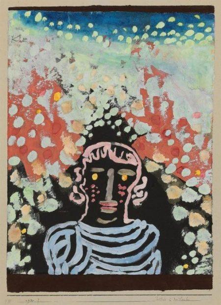 Paul Klee-Bildnis in Der Laube-1930