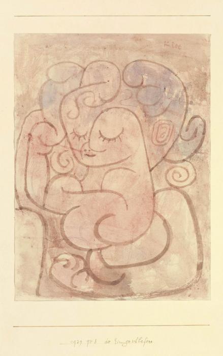 Paul Klee-Die Eingeschlafene-1939