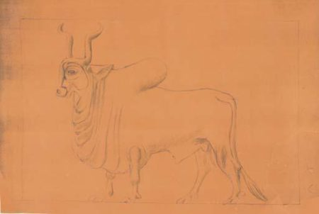 Le Corbusier-A Paper Blueprint For The Mold Of The Zebu Relief (1959)-1959