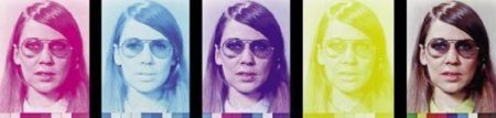 Chuck Close-Susan, Five color States-1971