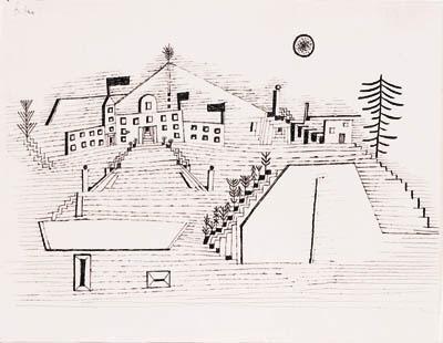 Paul Klee-Sommerschloss Bei Beride-1927