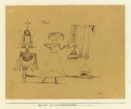 Paul Klee-Zum Gedenkblatt Fur Lieschen-1921