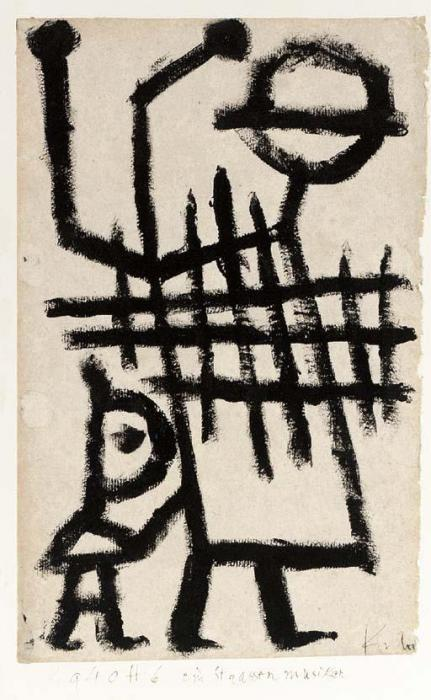 Paul Klee-Ein Strassenmuisker-1940